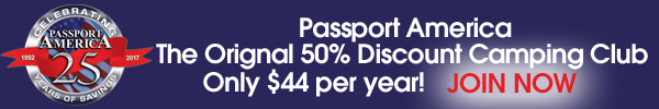 Passport America The Original 50% Discount Camping Club!