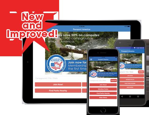 Passport America's Mobile Applications - Passport America Camping